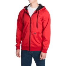 Dickies Work Tech Fleece Hoodie - Full Zip (For Men and Big Men) in Cardinal - Closeouts
