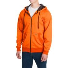 Dickies Work Tech Fleece Hoodie - Full Zip (For Men and Big Men) in Neon Orange - Closeouts