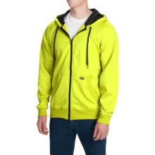 Dickies Work Tech Fleece Hoodie - Full Zip (For Men and Big Men) in Neon Yellow - Closeouts