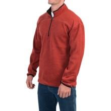 Dickies Work Tech Fleece Shirt - Zip Neck (For Men and Big Men) in Brick Rustic - Closeouts