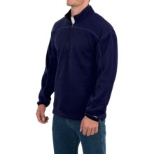 Dickies Work Tech Fleece Shirt - Zip Neck (For Men and Big Men) in Dark Blue Heather - Closeouts