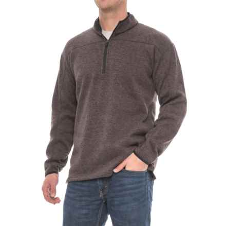 Dickies Work Tech Fleece Shirt - Zip Neck (For Men and Big Men) in Heather Brown - Closeouts