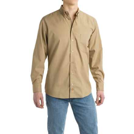 Dickies Woven Work Shirt - Long Sleeve (For Men) in Desert Sand - Closeouts