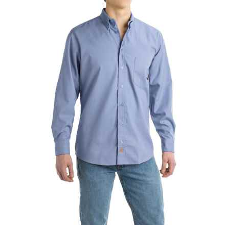 Dickies Woven Work Shirt - Long Sleeve (For Men) in Light Blue - Closeouts