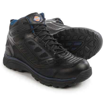 Dickies Wraith Work Boots - Steel Toe (For Men) in Black/Navy - Closeouts