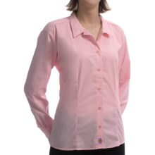 Dickies Wrinkle-Resistant Poplin Shirt - Tailored Fit, Long Sleeve (For Women) in Pink - 2nds