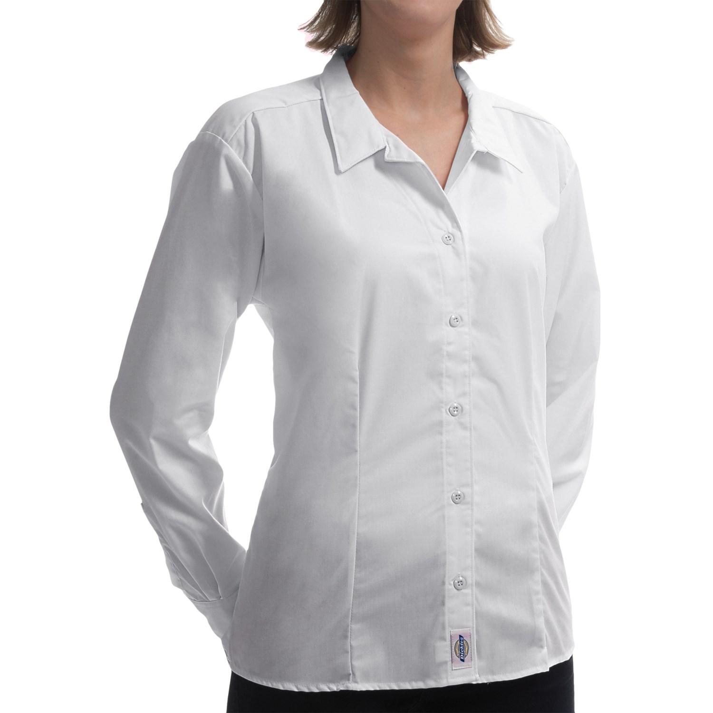 Dickies Wrinkle Resistant Poplin Shirt For Women Save 85