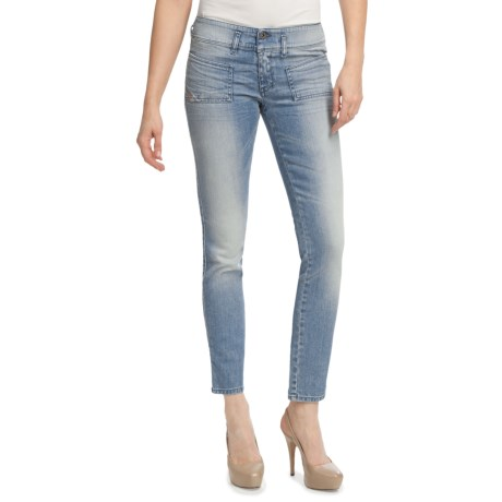 Diesel Hushy Ankle Gazer Skinny Jeans (For Women) in Indigo