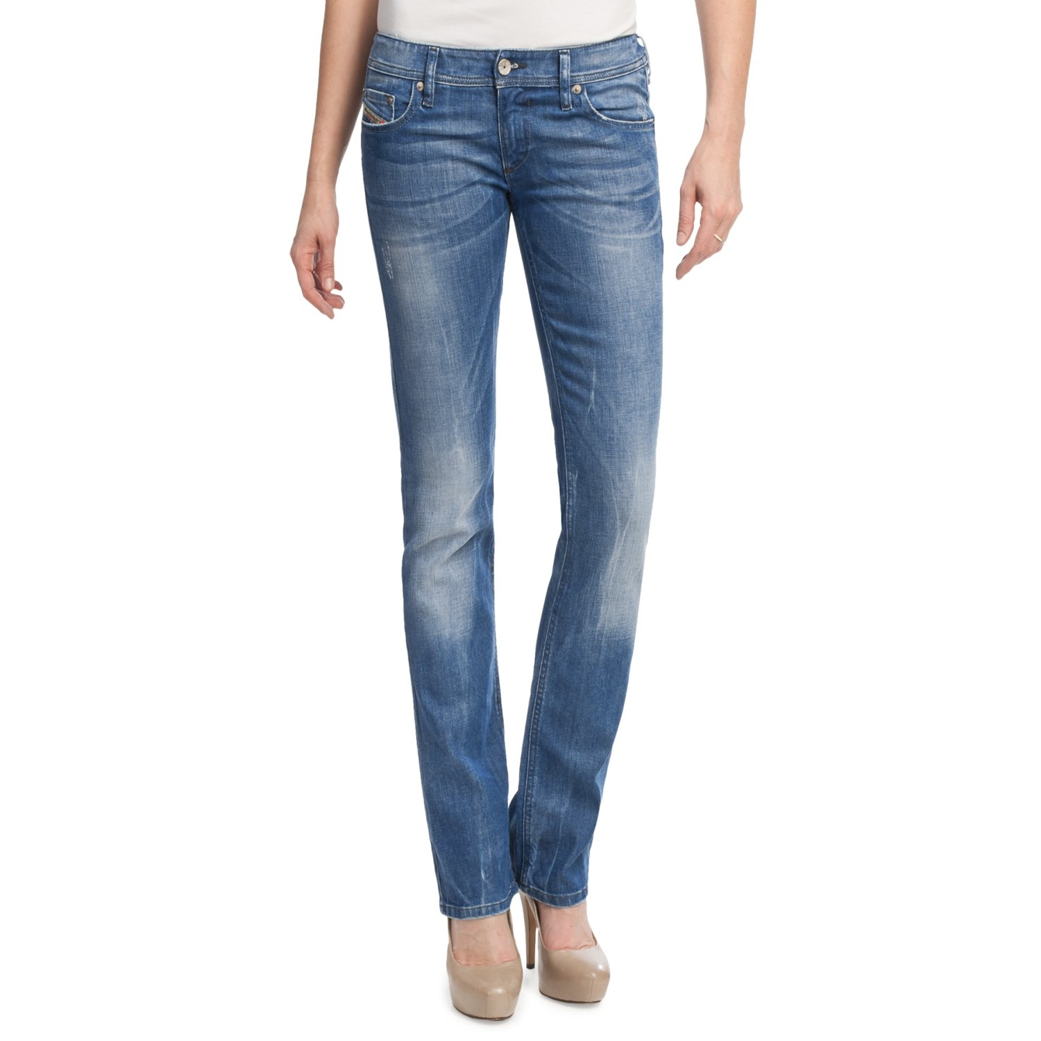 Diesel Lowky Super Slim Straight Leg Jeans For Women
