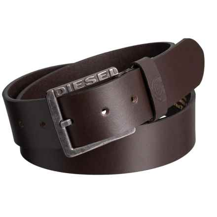 Diesel Mino1 Buffalo Leather Belt (For Men) in Brown - Closeouts