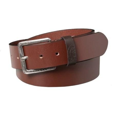 Diesel Mino3 Buffalo Leather Belt (For Men) in Vintage/Walnut