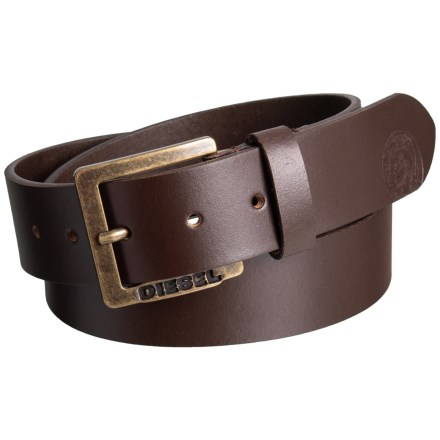 e21911133de Diesel Mino6 Buffalo Leather Belt (For Men) in Brown - Closeouts