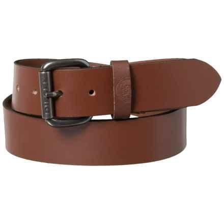 Diesel Mino7 Buffalo Leather Belt (For Men) in Vintage/Walnut - Closeouts