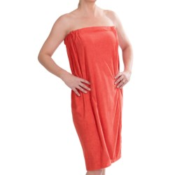 DII Adjustable Shower Wrap - Microfiber in Red Gelato