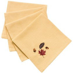 DII Autumn Cloth Napkins - Set of 4 in Leaves & Acorns