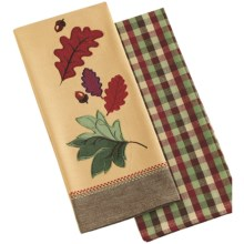 DII Autumn Dish Towels - Set of 2 in Leaves & Acorns - Closeouts