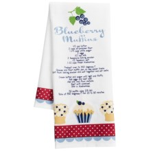 DII Berry Sweet Printed Recipe Dish Towel in Blueberry Muffins - Closeouts