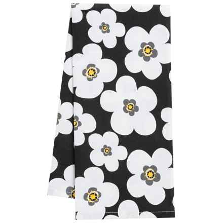 DII Blooms Cotton Dish Towel in Black - Closeouts