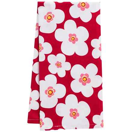 DII Blooms Cotton Dish Towel in Tango - Closeouts