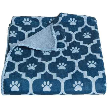 DII Bone Dry Moroccan Tile Dog Towel in Navy - Closeouts