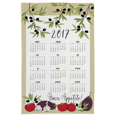 "DII Calendar Cotton Dish Towel - 18.5x28"" in Buon - Closeouts"
