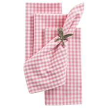 DII Cloth Napkins - Set of 4 in Pink Sorbet Check - Closeouts