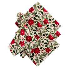 DII Cloth Napkins - Set of 4 in Poinsetta - Closeouts