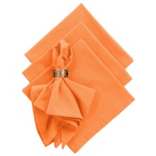 DII Cloth Napkins - Set of 4 in Tangerine - Closeouts