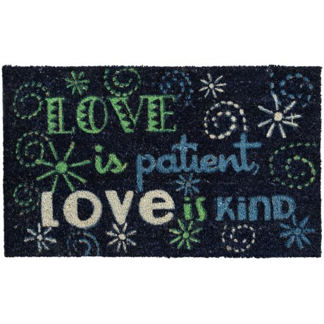 """DII Coir Everyday Doormats - 18x30"""" in Love Is Patient"""