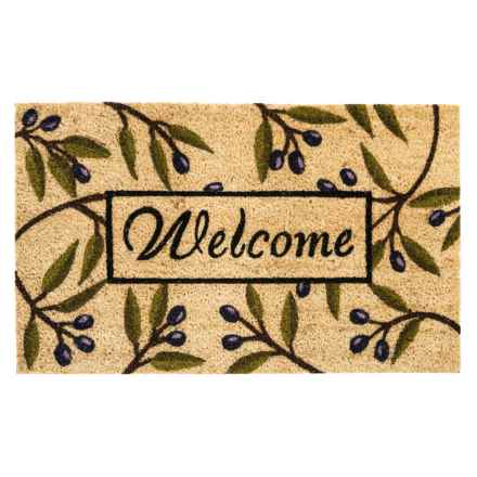 "DII Coir Everyday Doormats - 18x30"" in Olive Branch - Closeouts"