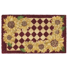 "DII Coir Everyday Doormats - 18x30"" in Sunflower Check - Closeouts"