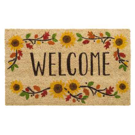 "DII Coir Fall Doormat - 18x30"" in Welcome Sunflowers - Closeouts"
