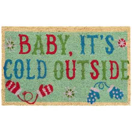 """DII Coir Holiday Doormat - 18x30"""" in Baby It's Cold Outside - Closeouts"""