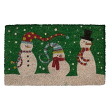 "DII Coir Holiday Doormat - 18x30"" in Snowman Trio - Closeouts"