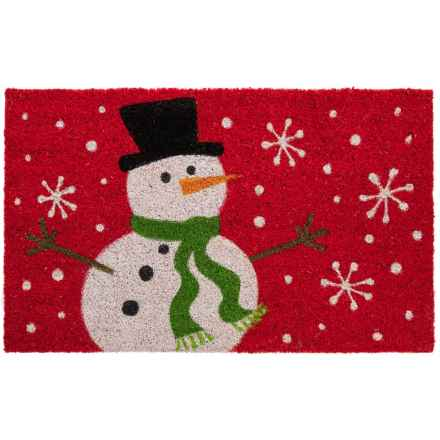 "DII Coir Holiday Doormat - 18x30"" in Snowman - Closeouts"