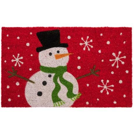 "DII Coir Holiday Doormat - 18x30"" in Snowman"