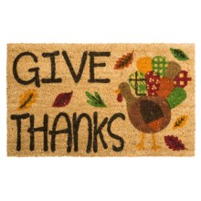 "DII Coir Holiday Doormat - 18x30"" in Turkey Give Thanks - Closeouts"