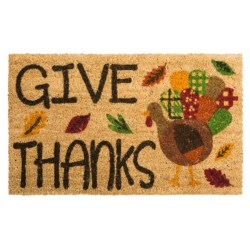 """DII Coir Holiday Doormat - 18x30"""" in Turkey Give Thanks"""