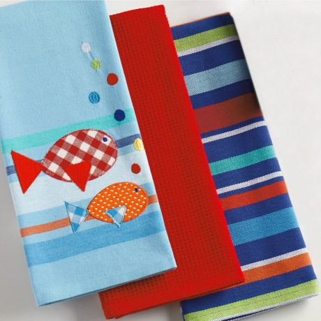 DII Cotton Dish Towels - Set of 3 in Summer Fun