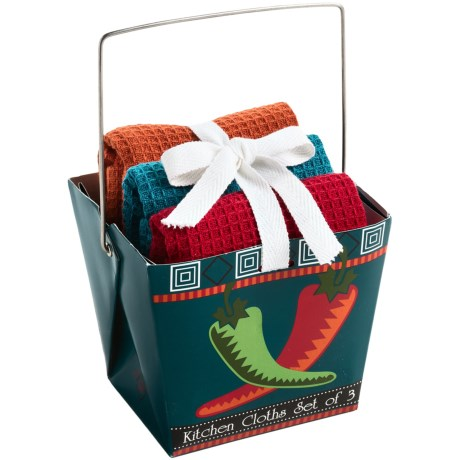 DII Dishcloth Takeout Gift Set in Chilis