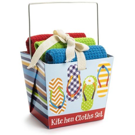 DII Dishcloth Takeout Gift Set in Coffee