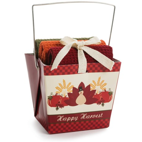 DII Dishcloth Takeout Gift Set in Happy Harvest