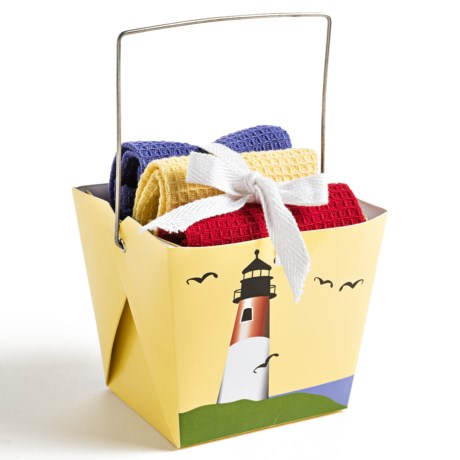 DII Dishcloth Takeout Gift Set in Lighthouse