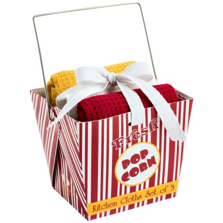 DII Dishcloth Takeout Gift Set in Popcorn