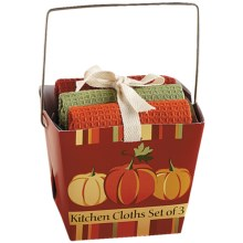 DII Dishcloth Takeout Gift Set in Pumpkin - Closeouts
