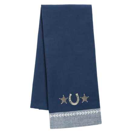 DII Embroidered Cotton Dish Towel in Horseshoe - Closeouts