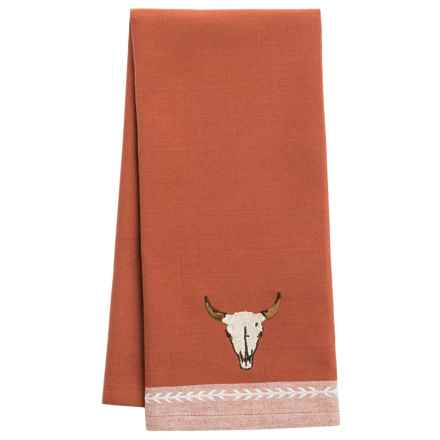 DII Embroidered Cotton Dish Towel in Steer Head - Closeouts