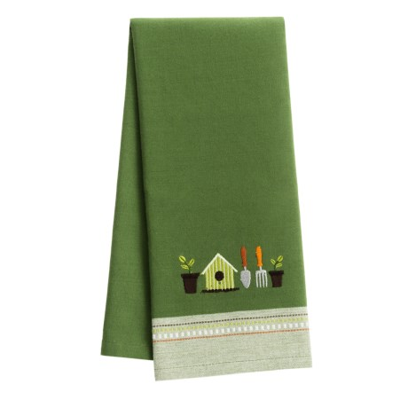 DII Embroidered Garden Dish Towel in Gardening