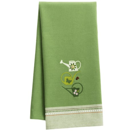 DII Embroidered Garden Dish Towel in Watering Cans