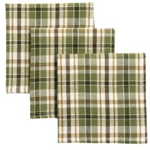 DII Essentials Dishcloths - Set of 3 in Pine Peak Plaid - Closeouts